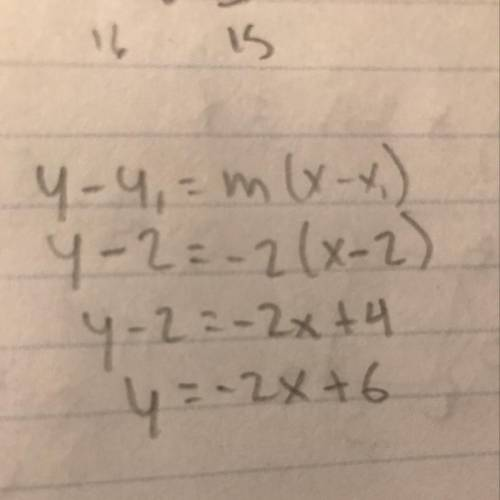 The equation of a line is y=-2x+1. what is the equation of a line that is parallel to the first line