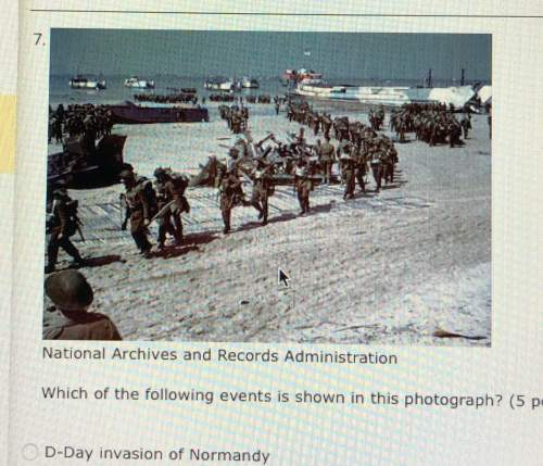 Which of the following events is shown in this photograph? a. d-day invasion of normandy b. allied