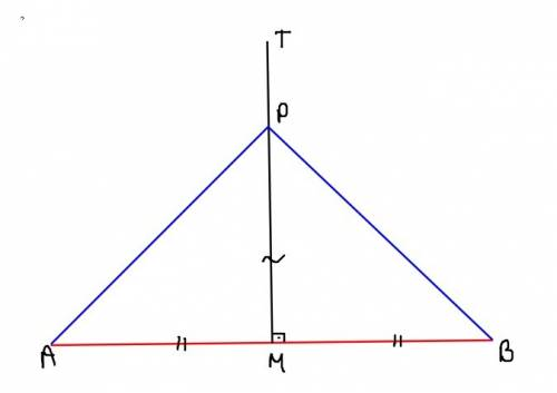 How do you prove that a point on a perpendicular bisector is equidistant from the endpoints of the s