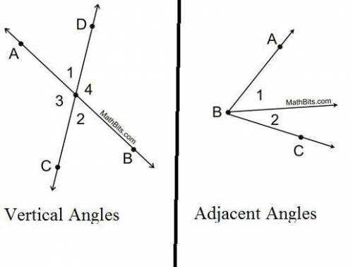 Two angles whose sides are opposite rays are called  angles. two coplanar angles with a common side,