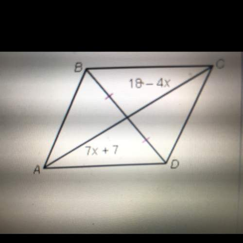 Find the value of x for which abcd must be a parallelogram.